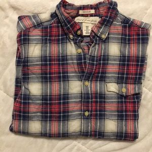 H&M plaid button down long sleeve US:M